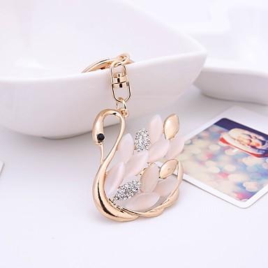 ieftine Breloc-breloc Lebădă Casual Modă Inele la Modă Bijuterii Alb / Auriu Pentru Cadou Zilnic