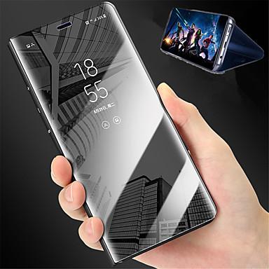 Недорогие Чехлы и кейсы для Xiaomi-Кейс для Назначение Xiaomi Xiaomi Mi Mix 2 / Xiaomi Mi 6 / Xiaomi Mi 5X со стендом / Зеркальная поверхность Чехол Однотонный Твердый Кожа PU