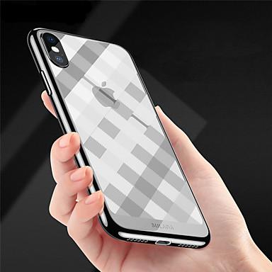 Недорогие Кейсы для iPhone-Кейс для Назначение Apple iPhone X / iPhone 8 Pluss / iPhone 8 Покрытие / Ультратонкий / Рельефный Кейс на заднюю панель Полосы / волосы Мягкий ТПУ