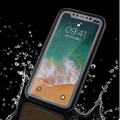 voordelige iPhone 6 Plus hoesjes-hoesje Voor Apple iPhone X / iPhone 8 Plus / iPhone 8 Waterbestendig Volledig hoesje Effen Zacht TPU