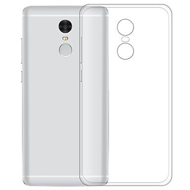 Недорогие Чехлы и кейсы для Xiaomi-Кейс для Назначение Xiaomi Xiaomi Redmi Note 4 Прозрачный Кейс на заднюю панель Однотонный Мягкий ТПУ