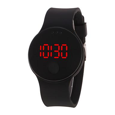 رخيصةأون ساعات النساء-رجالي نسائي ساعة رقمية رقمي سيليكون أسود / الأبيض / أزرق 30 m مقاوم للماء LCD 3Dكرتون رقمي كوول أنيق - أسود أبيض أرجواني سنة واحدة عمر البطارية