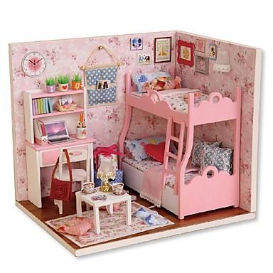 olcso Babaház és kiegészítők-Babaház Kreatív DIY Tökéletes Mini Bútor Ház Fa Romantikus Összes Lány Játékok Ajándék