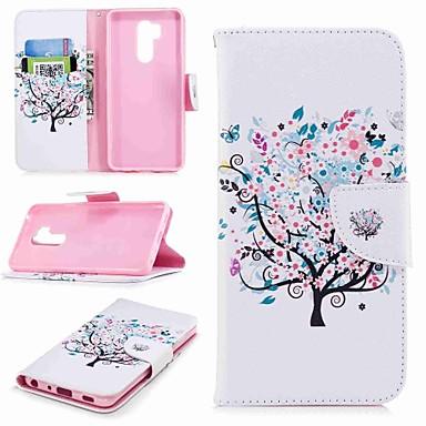 Недорогие Чехлы и кейсы для LG-Кейс для Назначение LG LG V30 / LG V20 / LG Q6 Кошелек / Бумажник для карт / со стендом Чехол дерево Твердый Кожа PU / LG G6
