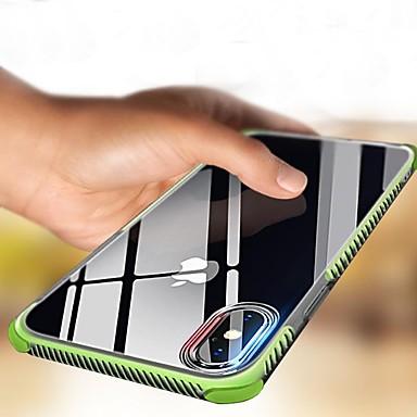Недорогие Кейсы для iPhone X-Кейс для Назначение Apple iPhone X / iPhone 8 Pluss / iPhone 8 Защита от удара / Прозрачный Кейс на заднюю панель Однотонный Мягкий ТПУ