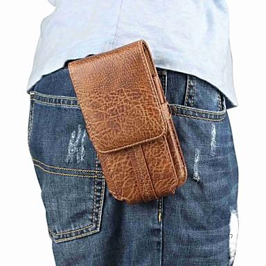 Недорогие Универсальные чехлы и сумочки-Кейс для Назначение Huawei Huawei P20 / Huawei P20 Pro / Huawei P20 lite Бумажник для карт Мешочек Однотонный Мягкий Настоящая кожа / P10 Plus / P10 Lite / P10