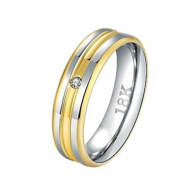 olcso Karikagyűrűk-Férfi Női Band Ring Groove gyűrűk 1db Arany Réz Ezüstözött Arannyal bevont Circle Shape Alap Menő Esküvő Napi Ékszerek