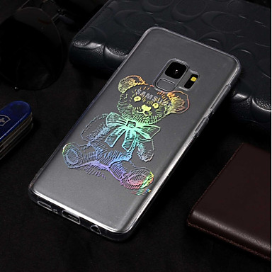 Недорогие Чехлы и кейсы для Galaxy S3-Кейс для Назначение SSamsung Galaxy S9 / S9 Plus / S8 Plus Покрытие / С узором Кейс на заднюю панель Животное Мягкий ТПУ