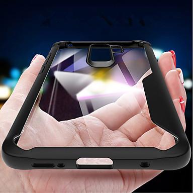 Недорогие Чехлы и кейсы для Galaxy S-Кейс для Назначение SSamsung Galaxy S9 / S9 Plus / S8 Plus Защита от удара / Зеркальная поверхность / Прозрачный Кейс на заднюю панель Однотонный Мягкий Силикон