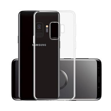 Недорогие Чехлы и кейсы для Galaxy S-Кейс для Назначение SSamsung Galaxy S9 Прозрачный Кейс на заднюю панель Однотонный Мягкий ТПУ