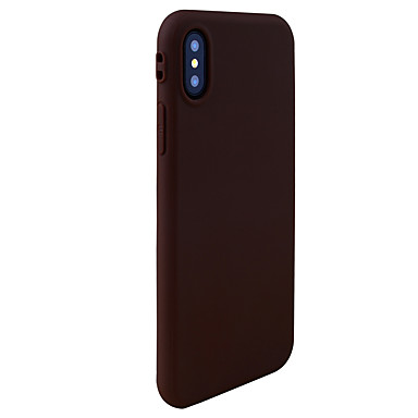 billige Etuier til iPhone 8-Etui Til Apple iPhone X / iPhone 8 Plus / iPhone 8 Ultratyndt Bagcover Ensfarvet Blødt TPU