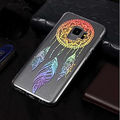 Недорогие Чехлы и кейсы для Galaxy S3-Кейс для Назначение SSamsung Galaxy S9 / S9 Plus / S8 Plus Покрытие / С узором Кейс на заднюю панель Ловец снов Мягкий ТПУ