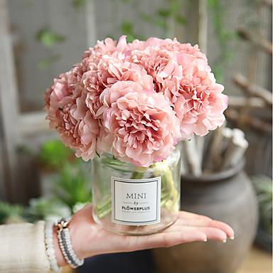 زهور اصطناعية 5 فرع الزفاف Wedding Flowers الفاوانيا الزهور الخالدة أزهار الطاولة