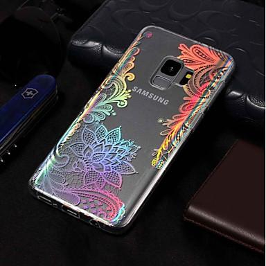 رخيصةأون حافظات / جرابات هواتف جالكسي S-غطاء من أجل Samsung Galaxy S9 / S9 Plus / S8 Plus تصفيح / نموذج غطاء خلفي الطباعة الدانتيل ناعم TPU