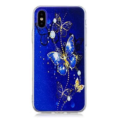 voordelige iPhone 5 hoesjes-hoesje Voor Apple iPhone X / iPhone 8 Plus / iPhone 8 Patroon Achterkant Vlinder Zacht TPU