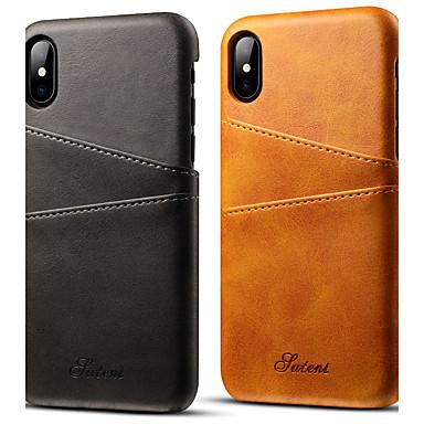 levne Pouzdra iPhone X-Carcasă Pro Apple iPhone X / iPhone 8 / iPhone 7 Plus Pouzdro na karty Zadní kryt Jednobarevné Pevné PU kůže