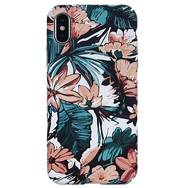 voordelige iPhone 6 hoesjes-hoesje Voor Apple iPhone X / iPhone 8 Plus / iPhone 8 Glow in the dark / Reliëfopdruk / Patroon Achterkant Bloem Hard PC