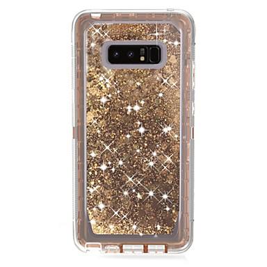 voordelige Galaxy Note-serie hoesjes / covers-hoesje Voor Samsung Galaxy Note 8 Schokbestendig / Stromende vloeistof / Schild Achterkant Schild / Glitterglans Hard PC