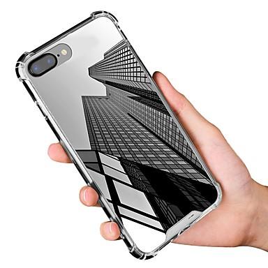 Недорогие Кейсы для iPhone X-Кейс для Назначение Apple iPhone X / iPhone 8 Pluss / iPhone 8 Защита от удара / Зеркальная поверхность Чехол Однотонный Мягкий ТПУ