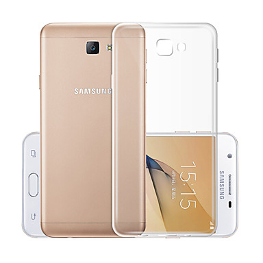 Недорогие Чехол Samsung-Кейс для Назначение SSamsung Galaxy J5 (2017) Прозрачный Кейс на заднюю панель Однотонный Мягкий ТПУ