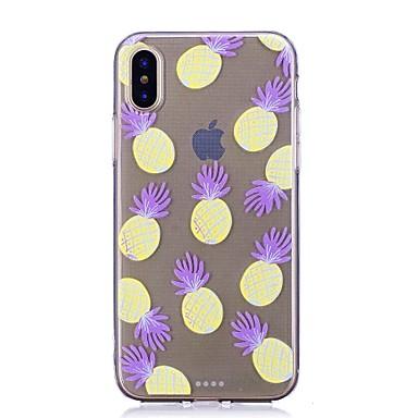 Недорогие Кейсы для iPhone 7-Кейс для Назначение Apple iPhone X / iPhone 8 Pluss / iPhone 8 Прозрачный / С узором Кейс на заднюю панель Продукты питания / Фрукты Мягкий ТПУ