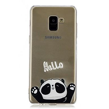 Недорогие Чехлы и кейсы для Galaxy А-Кейс для Назначение SSamsung Galaxy A5(2018) / Galaxy A7(2018) / A5 (2017) Прозрачный / С узором Кейс на заднюю панель Панда Мягкий ТПУ