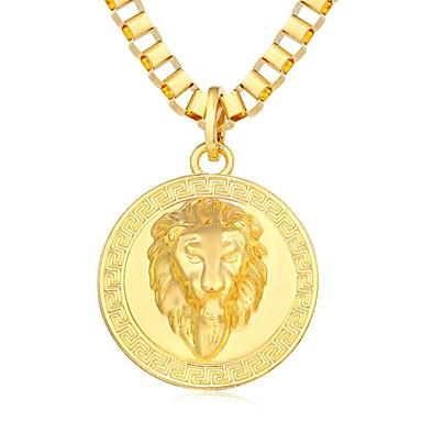 قلائد الحلي كوول Steampunk هيب هوب مطلية بالذهب عيار 18 سبيكة ذهبي أسود فضي 80 cm قلادة مجوهرات من أجل مناسب للبس اليومي شارع