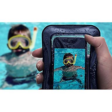 voordelige iPhone-hoesjes-hoesje Voor Apple iPhone X / iPhone 8 Plus / iPhone 8 Waterbestendig / Doorzichtig Buideltas Effen Zacht ABS + PC