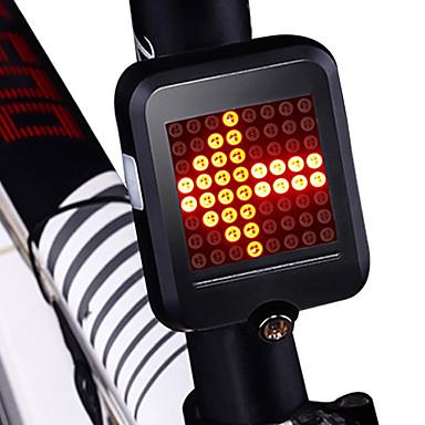 ieftine Lumini de Bicicletă-LED Lumini de Bicicletă Lumini de semnalizare Iluminat Bicicletă Spate lumini de securitate Ciclism montan Bicicletă Ciclism Rezistent la apă Inducție inteligentă Portabil Pliabil Li-ion 200 lm / USD