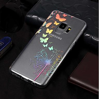 Недорогие Чехлы и кейсы для Galaxy S3-Кейс для Назначение SSamsung Galaxy S9 / S9 Plus / S8 Plus Покрытие / С узором Кейс на заднюю панель Бабочка / одуванчик Мягкий ТПУ