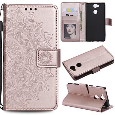 Недорогие Чехлы и кейсы для Sony-Кейс для Назначение Sony Sony Xperia Z3 / Sony Xperia Z5 / Xperia XA2 Кошелек / Бумажник для карт / Флип Чехол Цветы Твердый Кожа PU