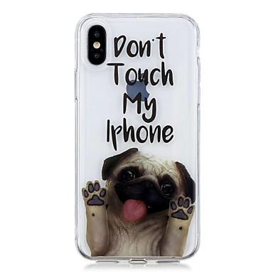 Недорогие Кейсы для iPhone-Кейс для Назначение Apple iPhone 8 Pluss / iPhone 7 Plus / iPhone 7 С узором Кейс на заднюю панель С собакой Мягкий ТПУ