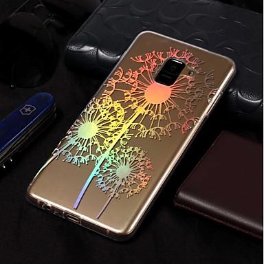 Недорогие Чехлы и кейсы для Galaxy А-Кейс для Назначение SSamsung Galaxy A3 (2017) / A5 (2017) / A8 2018 Покрытие / С узором Кейс на заднюю панель одуванчик Мягкий ТПУ