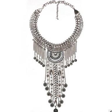 olcso Gallér-Gallér hosszú nyaklánc Partedli nyakláncok hölgyek Vintage Túlméretezett Darabos Ötvözet Arany Ezüst 59 cm Nyakláncok Ékszerek Kompatibilitás Party / estély