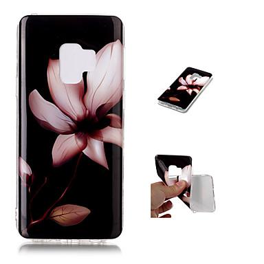 Недорогие Чехлы и кейсы для Galaxy S-Кейс для Назначение SSamsung Galaxy S9 / S9 Plus С узором Кейс на заднюю панель Цветы Мягкий ТПУ