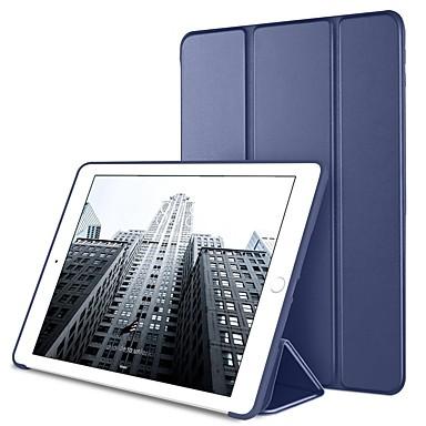 غطاء من أجل Apple ايباد ميني 5 / iPad New Air (2019) / iPad Mini 3/2/1 مع حامل / أورجامي / مغناطيس غطاء كامل للجسم لون سادة قاسي جلد PU