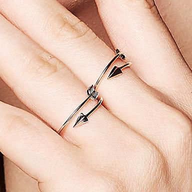billige Ringer i roségull-Dame Band Ring 1pc Sølv Rose Gull 18K Gullbelagt Metall S925 Sterling Sølv Sirkelformet Dainty damer Grunnleggende Daglig Smykker Arrow