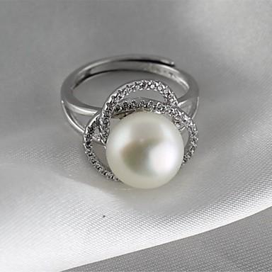 povoljno Prstenje-Žene Band Ring Prestenje knuckle ring Biseri Srebro Biseri S925 Sterling Silver Legura dame Klasik Vintage Dnevno Formalan Jewelry