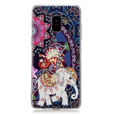 رخيصةأون حافظات / جرابات هواتف جالكسي A-غطاء من أجل Samsung Galaxy A5(2018) / Galaxy A7(2018) / A5 (2017) نموذج غطاء خلفي فيل ناعم TPU