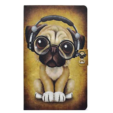 Недорогие Чехлы и кейсы для Samsung Tab-Кейс для Назначение SSamsung Galaxy Tab A 10.1 (2016) Бумажник для карт / Защита от удара / со стендом Чехол С собакой Твердый Кожа PU