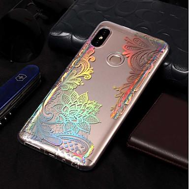 رخيصةأون Xiaomi أغطية / كفرات-غطاء من أجل Xiaomi Xiaomi Redmi Note 5 Pro / Redmi 5A / Xiaomi Redmi 5 Plus تصفيح / نموذج غطاء خلفي الطباعة الدانتيل ناعم TPU