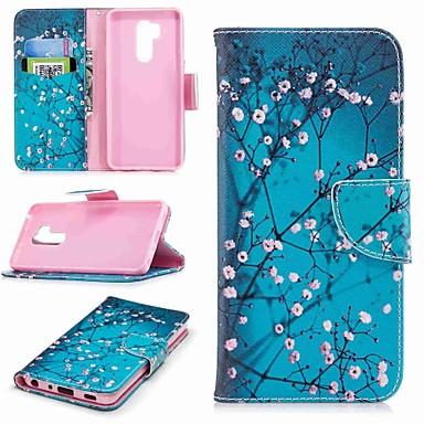 Недорогие Чехлы и кейсы для LG-Кейс для Назначение LG LG V30 / LG V20 / LG Q6 Кошелек / Бумажник для карт / со стендом Чехол Цветы Твердый Кожа PU / LG G6