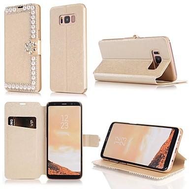 Θήκη Za Samsung Galaxy S9 / S9 Plus / S8 Plus Novčanik / Utor za kartice / Štras Korice Jednobojni Tvrdo PU koža