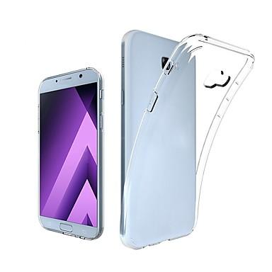 Недорогие Чехол Samsung-Кейс для Назначение SSamsung Galaxy A7 (2017) Прозрачный Кейс на заднюю панель Однотонный Мягкий ТПУ