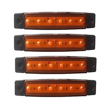 olcso LED-es autó fényszórók-ZIQIAO 4db Autó Izzók 1.5W SMD LED 120lm 6 külső világítás For Univerzalno Univerzalno Minden évjárat