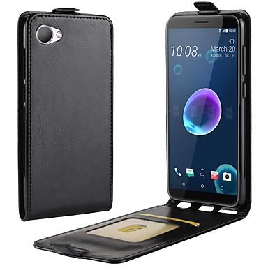 Недорогие Чехлы и кейсы для HTC-Кейс для Назначение HTC HTC U11 plus / HTC U11 Life / HTC U11 Бумажник для карт / Флип Чехол Однотонный Твердый Кожа PU