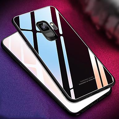 Недорогие Чехлы и кейсы для Galaxy S-Кейс для Назначение SSamsung Galaxy S9 / S9 Plus / S8 Plus Зеркальная поверхность Кейс на заднюю панель Однотонный Твердый Закаленное стекло