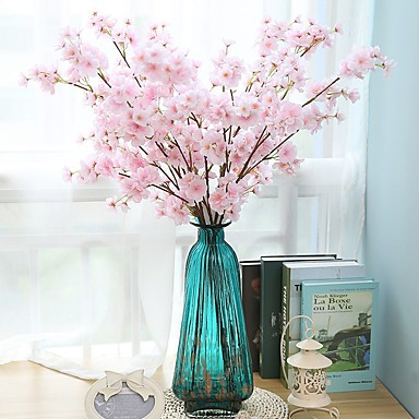 زهور اصطناعية 2 فرع كلاسيكي فردي أسلوب بسيط الحديث ساكورا الزهور الخالدة أزهار الطاولة