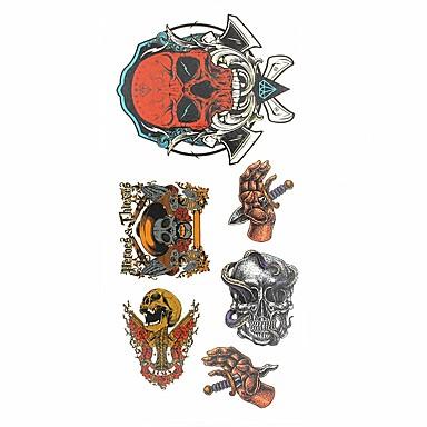 1 pcs ملصقات الوشم الوشم المؤقت سلسلة الطوطم الفنون الجسم أيادي / ذراع / معصم