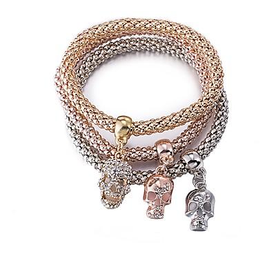 نسائي أسورة جمجمة سيدات موضة مطلية بالذهب مجوهرات سوار كوفي من أجل هدية مناسب للبس اليومي